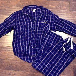 Victoria Secret 2 pc plaid pajama set LARGE